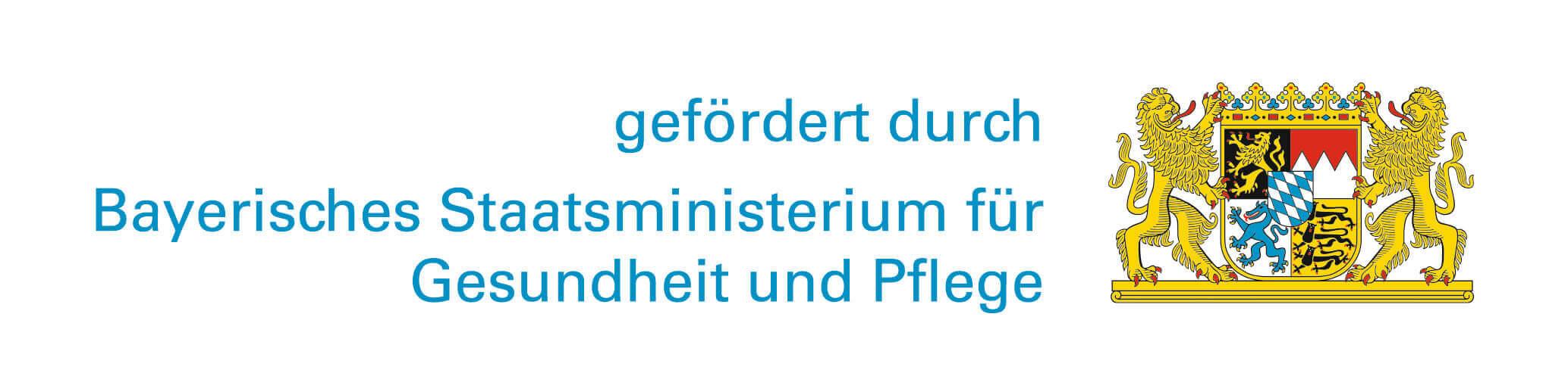 Bayerisches Staatsministerium Förderlogo Gesundheitsregion